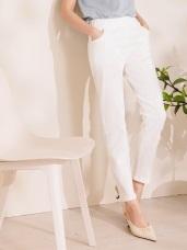 高含棉立體剪裁鬆緊腰頭彈力纖腿褲