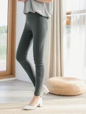 高腰彈性修身窄褲
