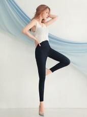 台灣製造 . 高腰彈力縮腹親膚透氣涼感長褲