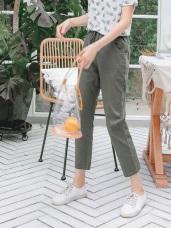 高含棉腰鬆緊綁帶哈倫褲