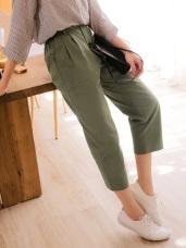 高含棉褲頭造型後腰頭鬆緊哈倫褲