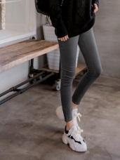 高腰收腹彈性修身多色窄管褲