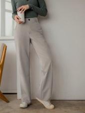知性風西裝直筒長褲