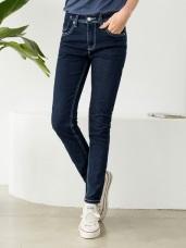 車縫線造型原色嚴選牛仔褲