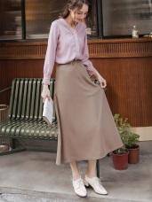 俐落剪裁修身純色壓紋長裙