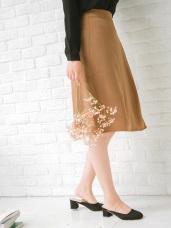 素色壓褶設計中裙