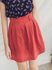 後腰鬆緊打褶涼爽短裙