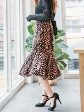 質感豹紋印花合身魚尾裙