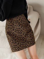質感豹紋印花短包裙