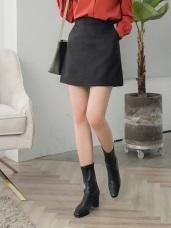 暖感面磨毛純色合身短包裙