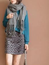 流行豹紋印花A字短版褲裙