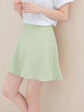 質感簡約剪裁純色傘襬短裙
