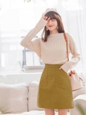 高含棉大口袋設計A字短裙