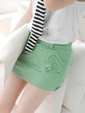 個性典範~兩側斜口袋造型安全褲內裡短裙‧5色