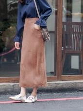 質感面料合身鉛筆中長裙