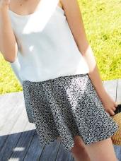清新甜蜜~滿版碎花側拉鍊圓襬短裙.2色