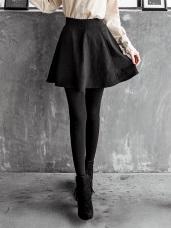 彈性刷毛多片剪裁圓襬褲裙