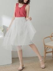 直條紋層次感澎澎紗裙.2色