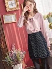條紋兩片式造型短裙.1色
