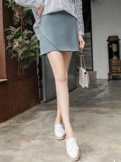素色縫線造型層次A字裙.3色