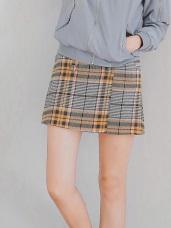 混色千鳥格紋英倫風A字短裙.2色