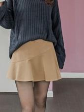 毛呢質感小魚尾剪裁短裙.2色