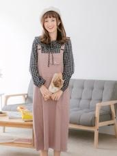 親子系列~口袋設計高含棉吊帶裙