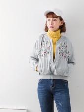 素色橫須賀刺繡外套.2色