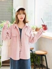 兩穿式斜紋高含棉休閒襯衫/外套