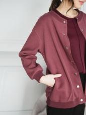 高含棉質感純色棒球外套