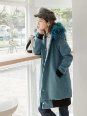 華麗蓬鬆羽毛大衣連帽外套