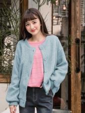 純色壓紋設計排釦磨毛外套