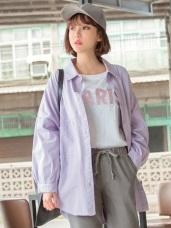 高含棉斜口袋寬鬆襯衫/外套