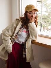 高含棉斜紋造型口袋蓋連帽長袖外套