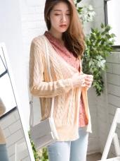 鏤空麻花寬鬆針織開襟外套.3色