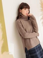 質感純色高領針織毛衣
