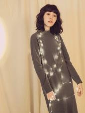 純色小高領包芯紗針織洋裝