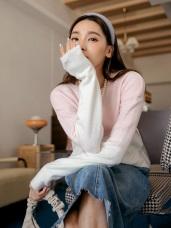 粉嫩色系親膚柔軟針織毛衣