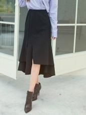 不規則接片造型長裙