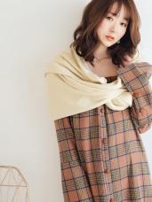 保暖抗寒多用法40%混羊毛披肩圍巾
