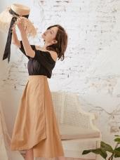 經典單釦修身長裙