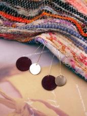 Simple設計感 ‧ 雙色圓片針式耳環