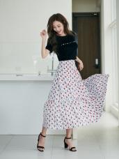 幾何方塊花紋長裙