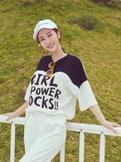 BEST Girl Power字母個性T恤