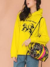 【品牌訂製】BuBu印花塗鴉連帽上衣