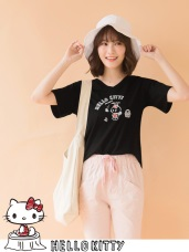 野餐KITTY~美背綁繩造型高含棉上衣
