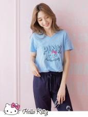 PINKHOLIC系列~KITTYV領短袖高含棉上衣