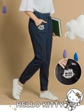 台灣製造~太空KITTY腰抽繩鬆緊哈倫褲