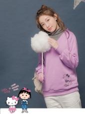 KITTY系列~台灣製造內刷毛V領衛衣上衣