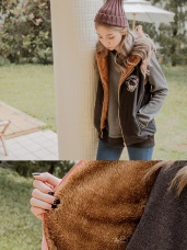 太空KITTY~內刷毛鋪棉連帽背心外套